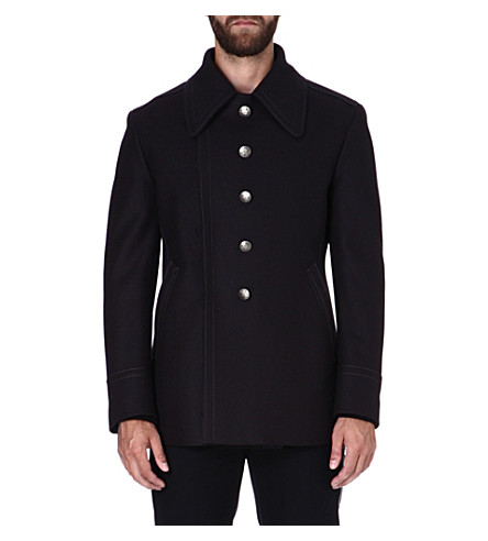 MAISON MARTIN MARGIELA Tailored wool coat (Navy