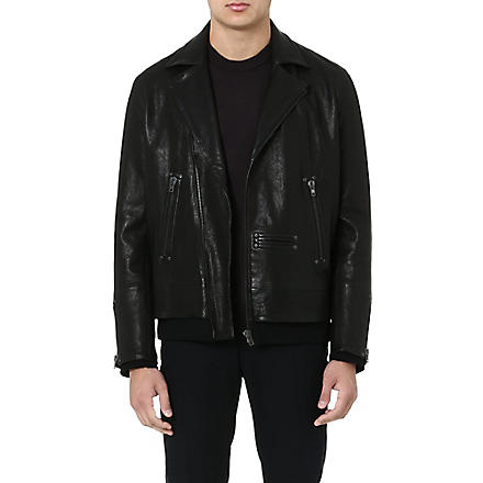 MAISON MARTIN MARGIELA Leather biker jacket (Black