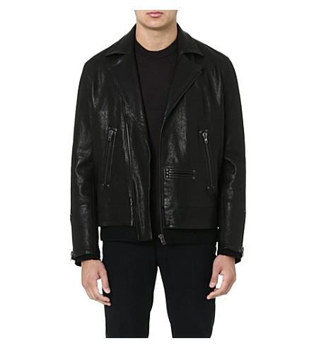 MAISON MARTIN MARGIELA Leather biker jacket (Black