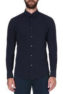 MAISON MARTIN MARGIELA Fitted cotton navy shirt