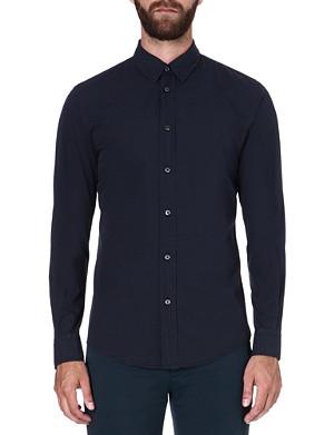 MAISON MARTIN MARGIELA Fitted cotton navy shirt