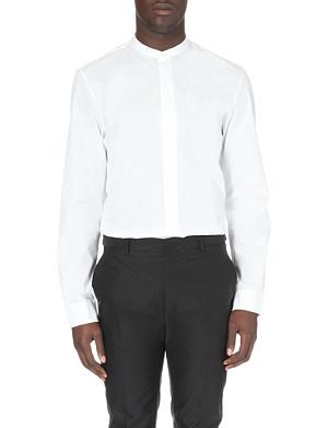 MAISON MARTIN MARGIELA Collarless cotton shirt