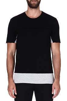 MAISON MARTIN MARGIELA Two-tone cotton T-shirt