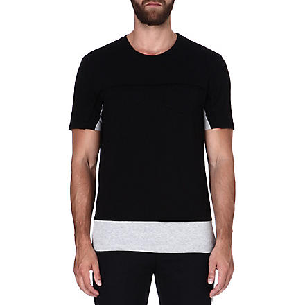 MAISON MARTIN MARGIELA Two-tone cotton T-shirt (Black/grey