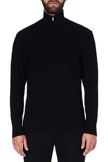 MAISON MARTIN MARGIELA Roll-neck black jumper