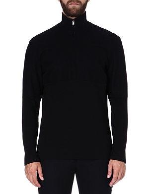 MAISON MARTIN MARGIELA Roll-neck black jumper