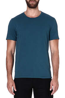 MAISON MARTIN MARGIELA Fitted cotton blue T-shirt