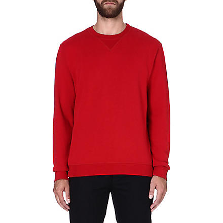 MAISON MARTIN MARGIELA Elbow-patch sweatshirt (Red