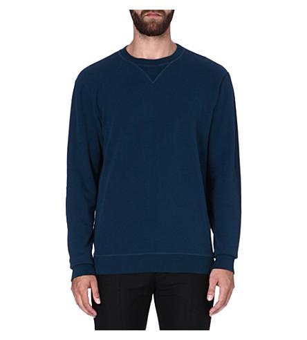 MAISON MARTIN MARGIELA Elbow-patch sweatshirt (Navy