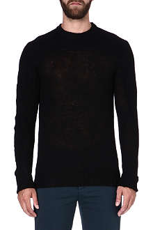 MAISON MARTIN MARGIELA Semi-sheer wool-blend jumper
