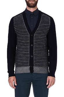 MAISON MARTIN MARGIELA Stripe panel cardigan