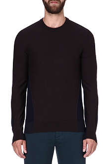 MAISON MARTIN MARGIELA Two-tone wool-blend jumper