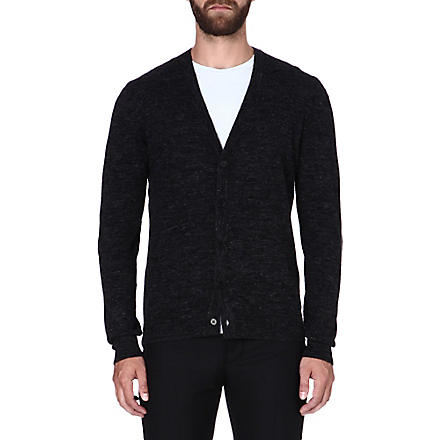 MAISON MARTIN MARGIELA Elbow-patch cardigan (Charcoal