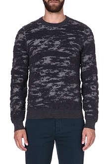 MAISON MARTIN MARGIELA Landscape print wool jumper