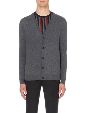 MAISON MARGIELA Elbow-patch wool-cotton cardigan