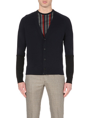 MAISON MARGIELA V-neck wool and silk-blend cardigan