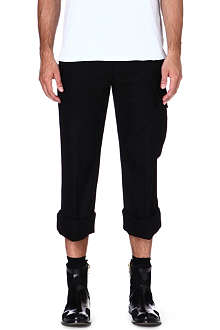 MAISON MARTIN MARGIELA Cropped wool-blend trousers