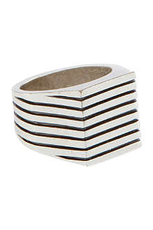 MAISON MARTIN MARGIELA Flat face striped ring