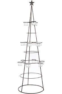 COACH HOUSE Wl black tall tree tlite holder