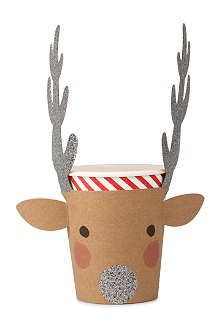 MERI MERI Set of 12 reindeer cups