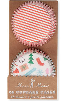 MERI MERI Jingle All the Way cupcake cases set of 48