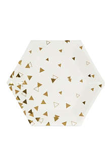 MERI MERI Hexagon paper plates pack of 8