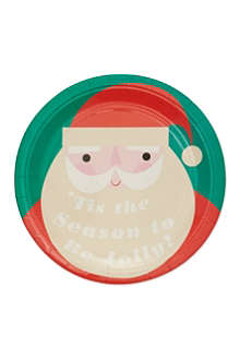 MERI MERI Be jolly small paper plates eight pack