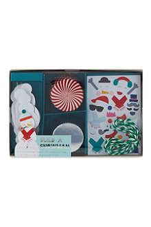 MERI MERI Snowman cupcake kit