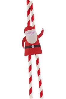 MERI MERI Jolly santa straws