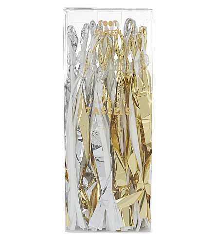 PARTY Pack of 12 party tassels
