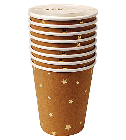 MERI MERI Kraft Star cups set of eight