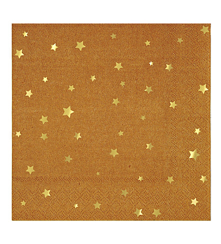 MERI MERI Kraft Star napkins set of 16