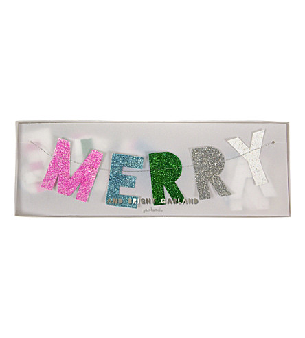 PARTY Merry christmas garland