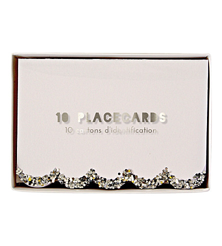 MERI MERI Chunky Glitter place cards set of ten