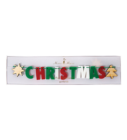 MERI MERI Merry Christmas acrylic garland