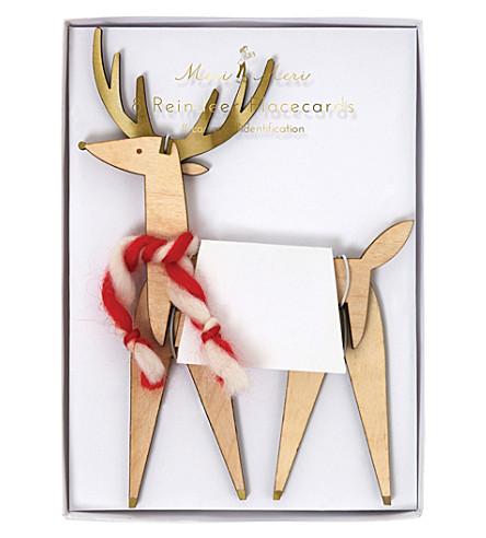 MERI MERI Stand up Reindeer place card set of eight