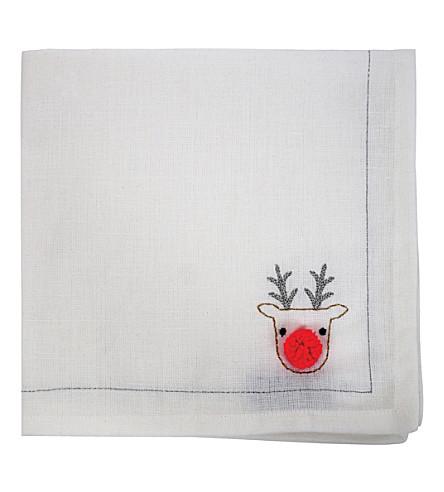MERI MERI Embroidered reindeer napkin