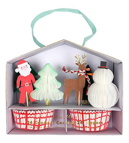 MERI MERI Santa reindeer cupcake kit