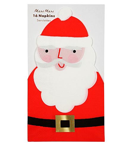 MERI MERI Festive Santa napkins set of 16