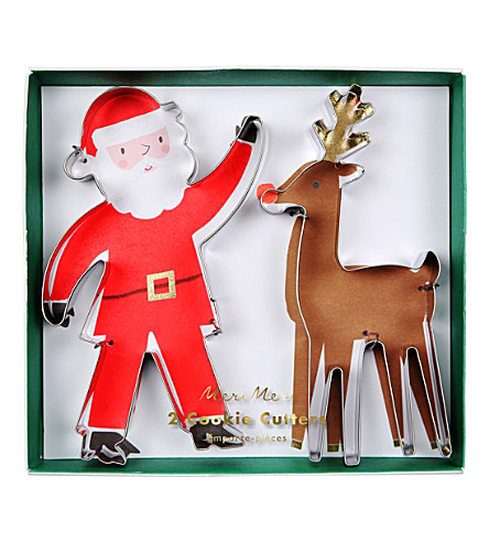 MERI MERI Santa and Reindeer cookie cutters 24 pack