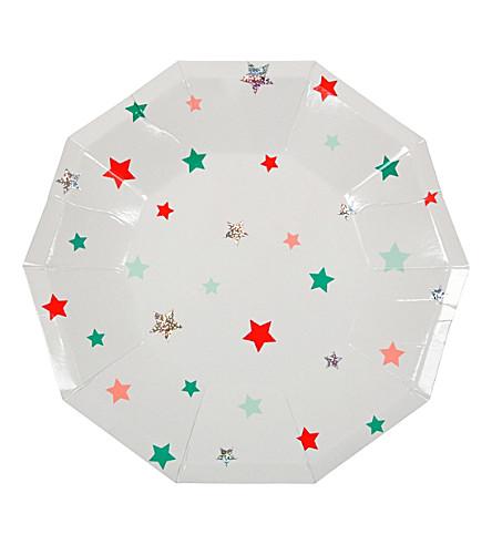 MERI MERI Star print plates small pack of eight