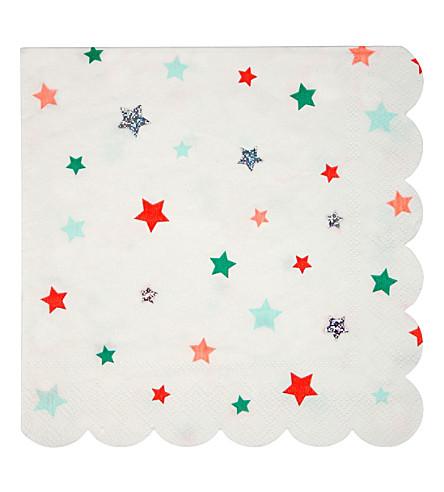 MERI MERI Stars napkin lg s/16