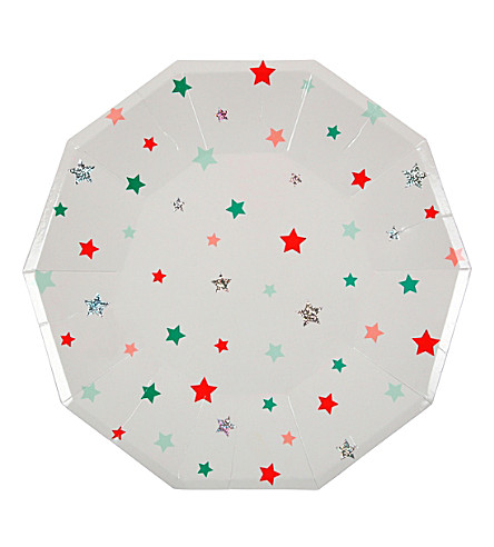 MERI MERI Star party plates large pack of eight