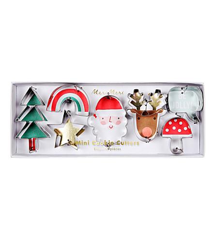 MERI MERI Mini Christmas cookie cutters set of seven