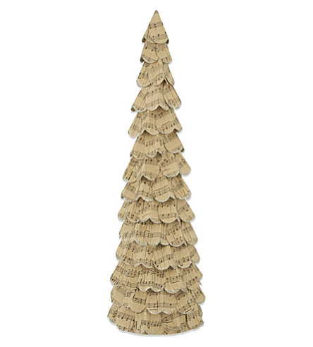 HEAVEN SENDS Paper musical note Christmas tree