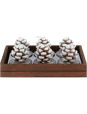 NONE Frosted cone tea lights 6-pack