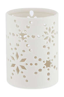 NONE Bisque ceramic candle holder