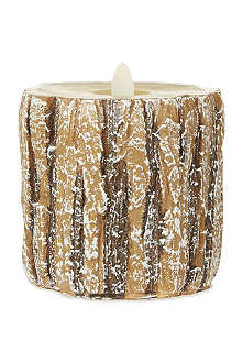 NONE Small log LED candle 10cm