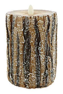 NONE Large log LED candle 14.5cm