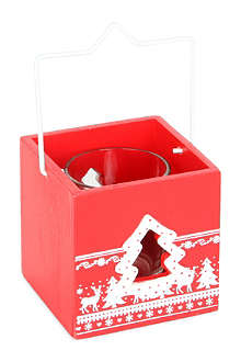 GISELA GRAHAM Christmas wooden lantern 8cm